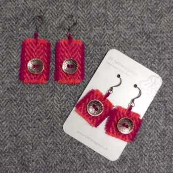 23. wool earrings