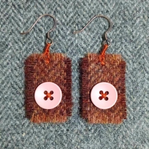 26. wool earrings