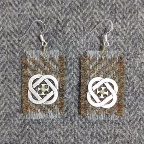 28. wool earrings
