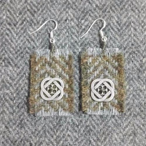29. wool earrings