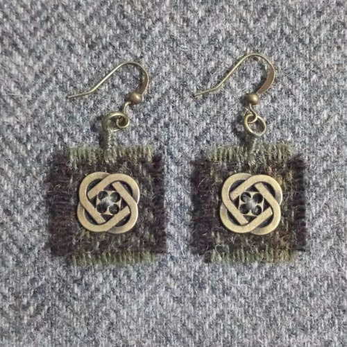 30. wool earrings