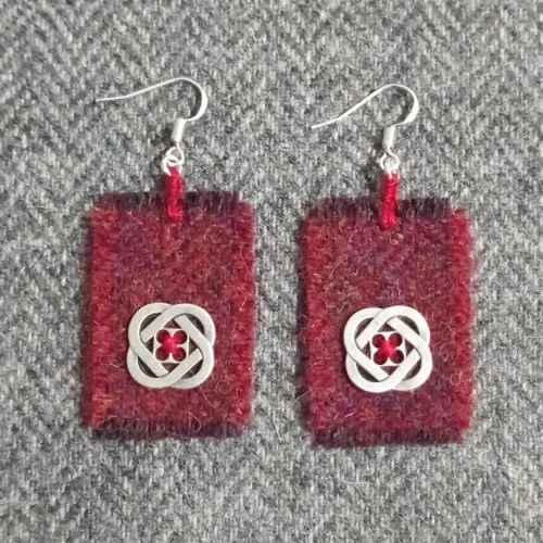 31. wool earrings
