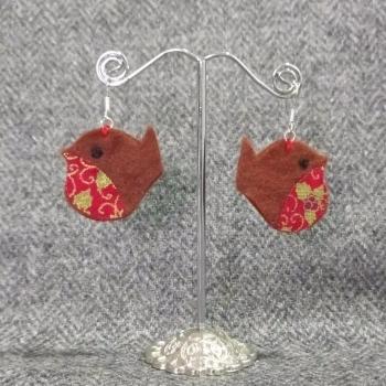 Christmas Robin earrings