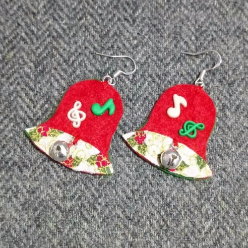 Christmas bell earrings
