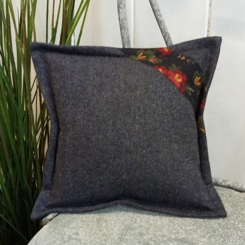 8. mini tweed cushion