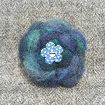 55. wool brooch
