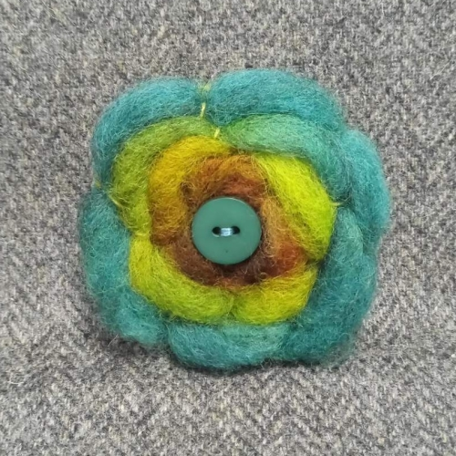 54. wool brooch