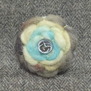 51. wool brooch