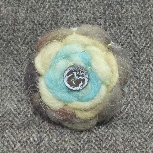 51. wool brooch
