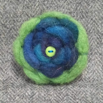 50. wool brooch