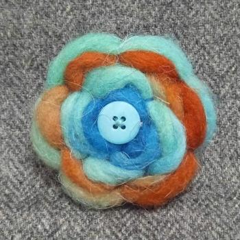 45. wool brooch