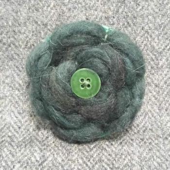 42. wool brooch