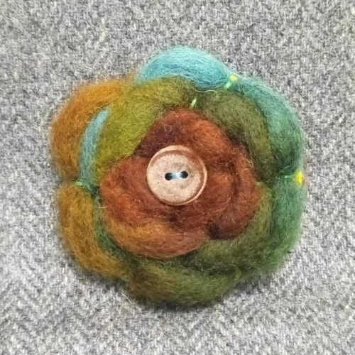 40. wool brooch