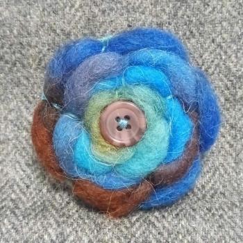 39. wool brooch