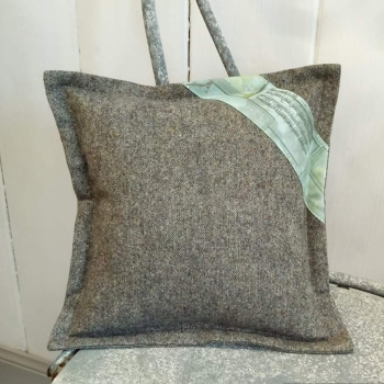 10. mini tweed cushion