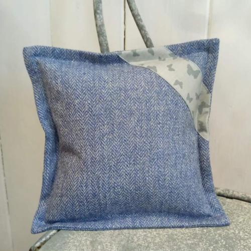 11. mini tweed cushion