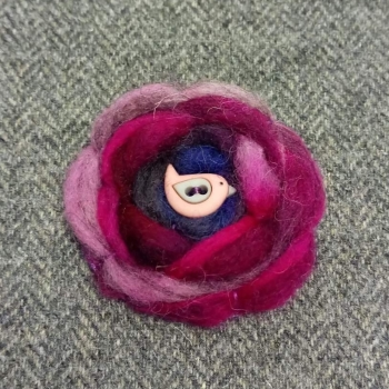 60. wool brooch