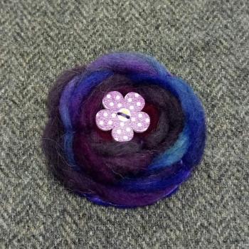 61. wool brooch
