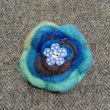 67. wool brooch