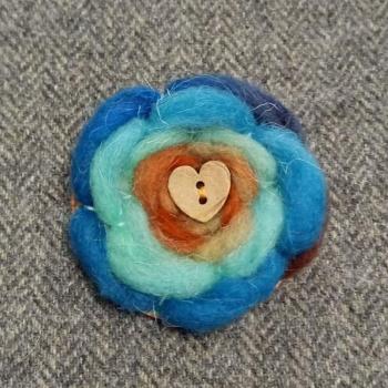 68. wool brooch