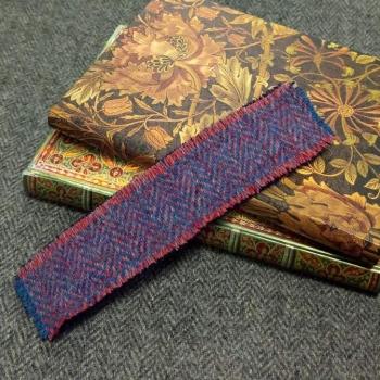 29. tweed bookmark