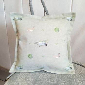 9. mini linen cushion