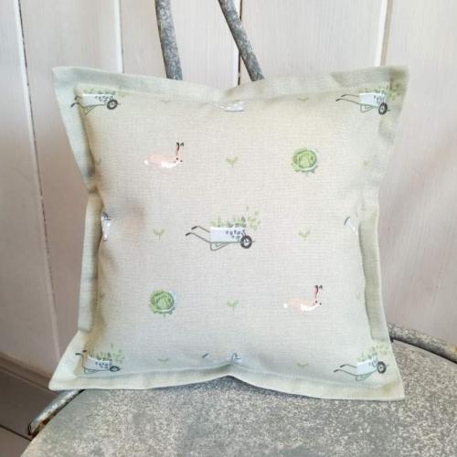 9. mini linen cushion