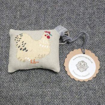 hen key ring / bag charm