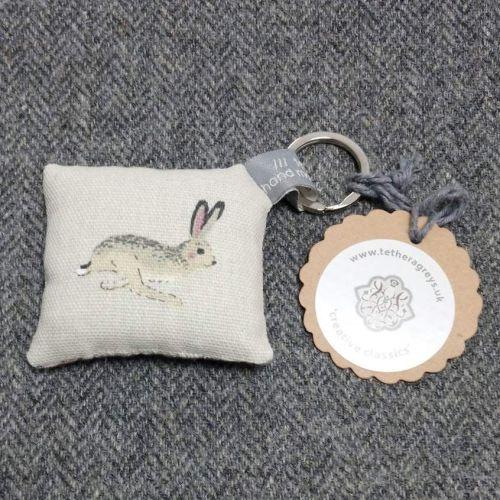 hare key ring / bag charm