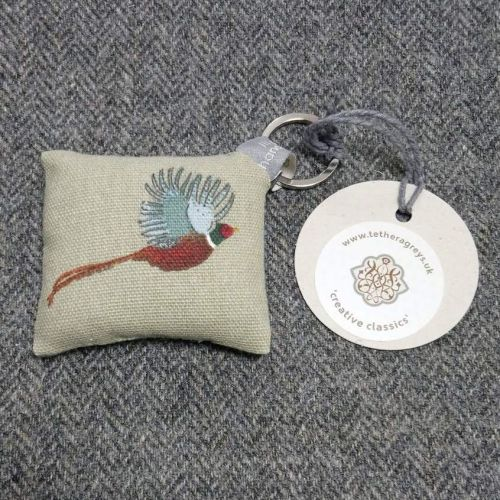 pheasant key ring / bag charm