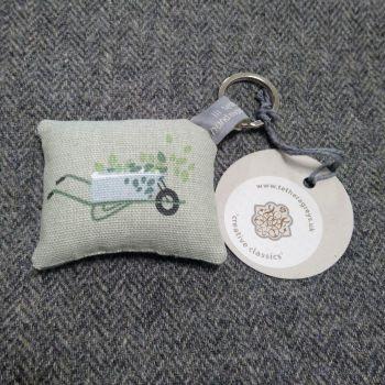 wheelbarrow key ring / bag charm