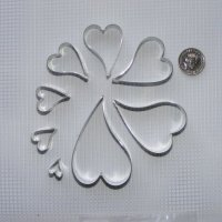 Curved Heart Set x 8