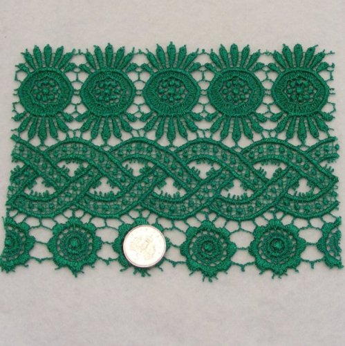 <!--001-->Lace - Green Guipure
