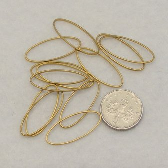 <!--004-->Brass Oval 24.5mm x 10.5mm