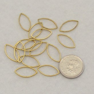 <!--006-->Brass Elliptic 16mm x 8mm