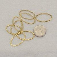 Brass Oval 24mm x14mm