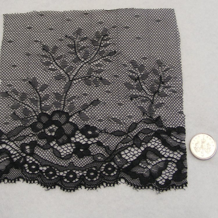 <!--023-->Lace - Black Tulle