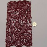 (L37) Lace - Burgandy Leaves