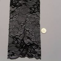 (L40) Lace - Black Flowers