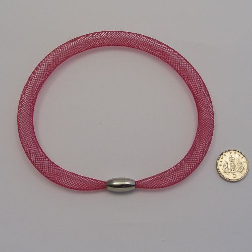 <!--132-->8mm Crin x 1 metre- Burgundy