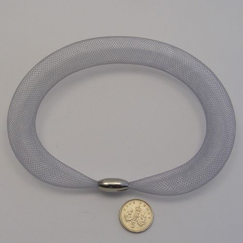 <!--150-->8mm Crin x 1 metre - Silver Grey
