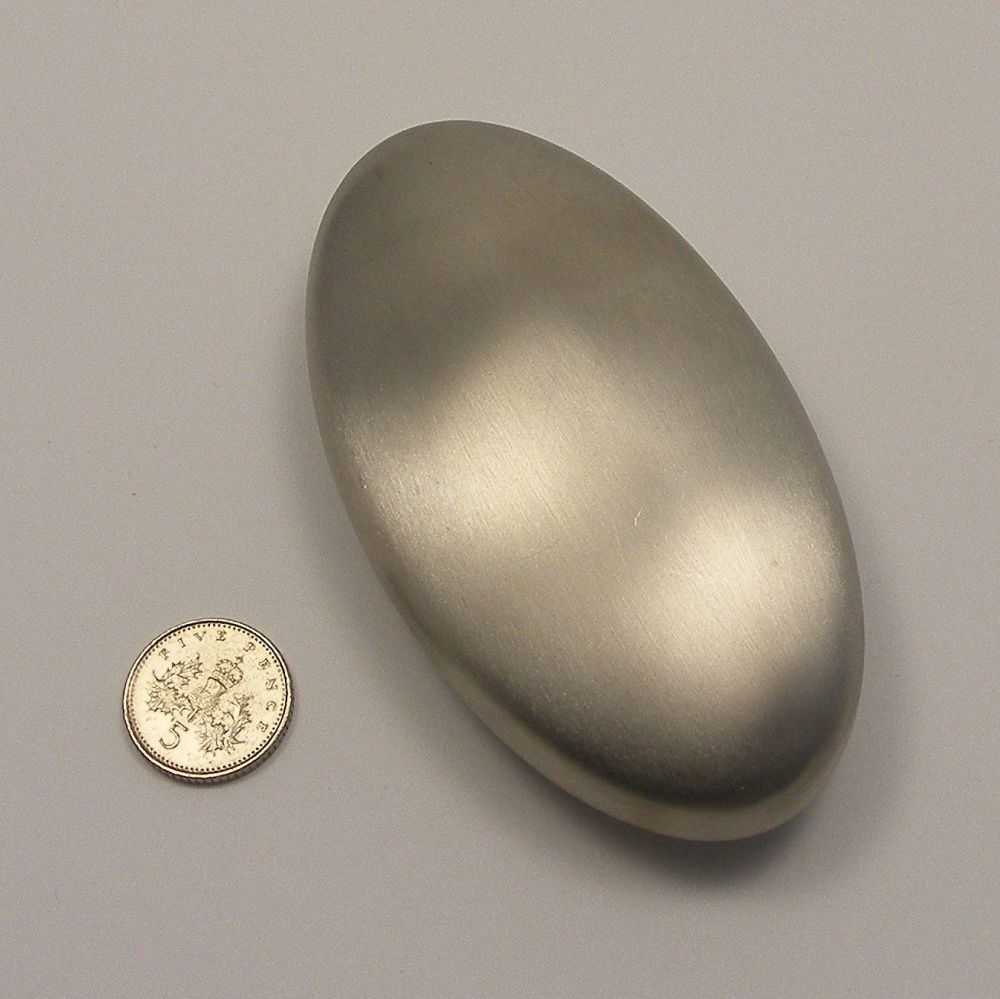 <!--054-->(SS 02)Stainless Steel Soap - Large Oval