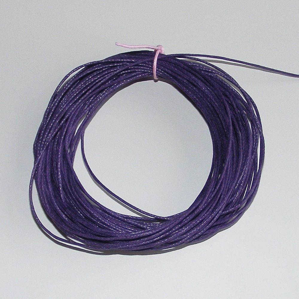 <!--005-->Dark Purple Waxed Cotton Cord - (Single Pack)