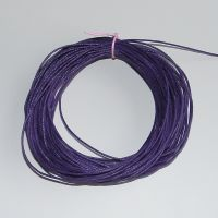 Dark Purple Waxed Cotton Cord - (Single Pack)