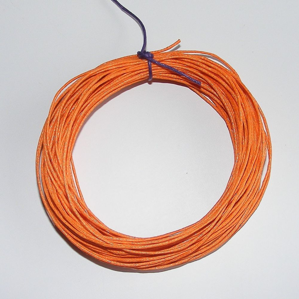 <!--001-->Orange Waxed Cotton Cord (Single Pack)