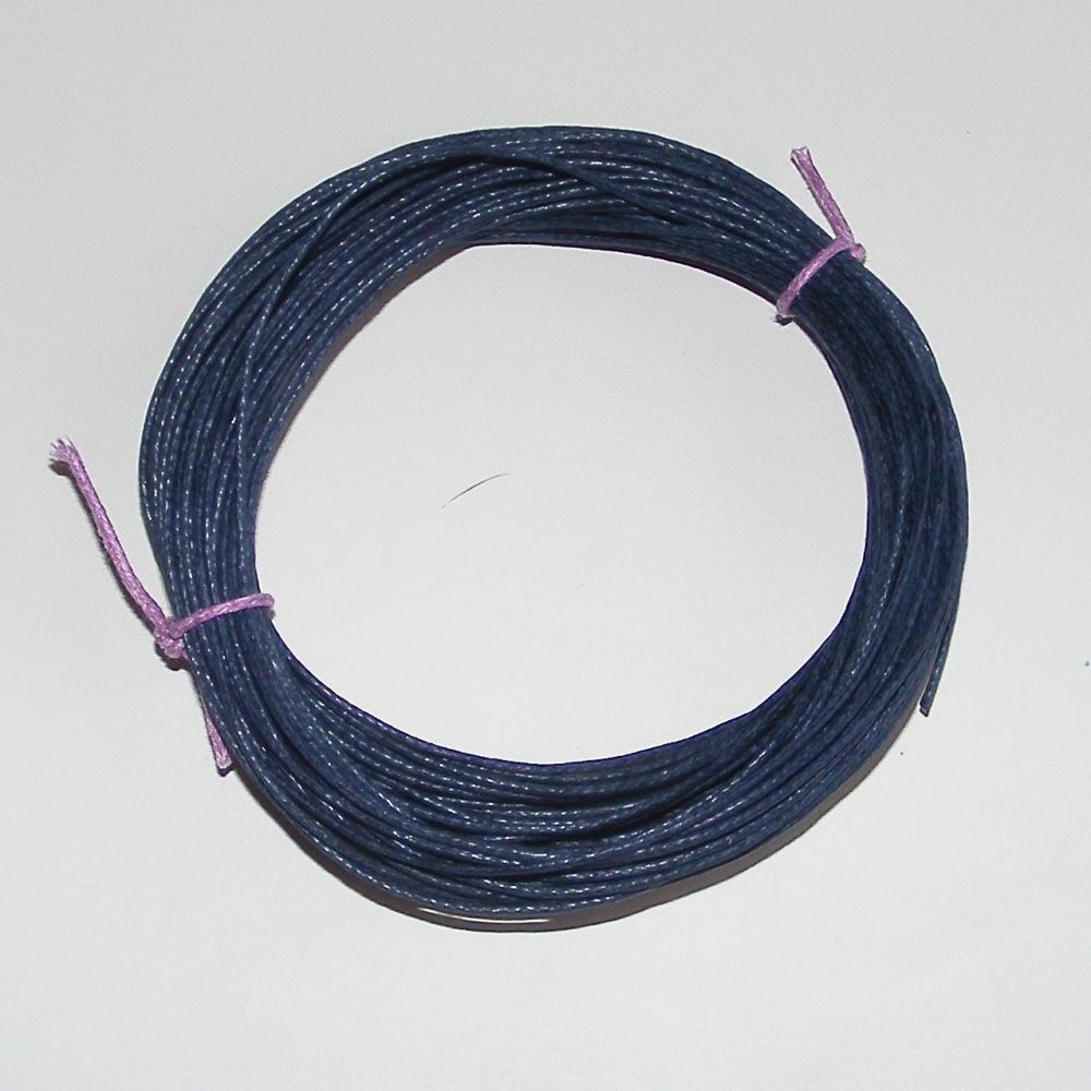 <!--007-->vy Blue Waxed Cotton Cord - (Single Pack)