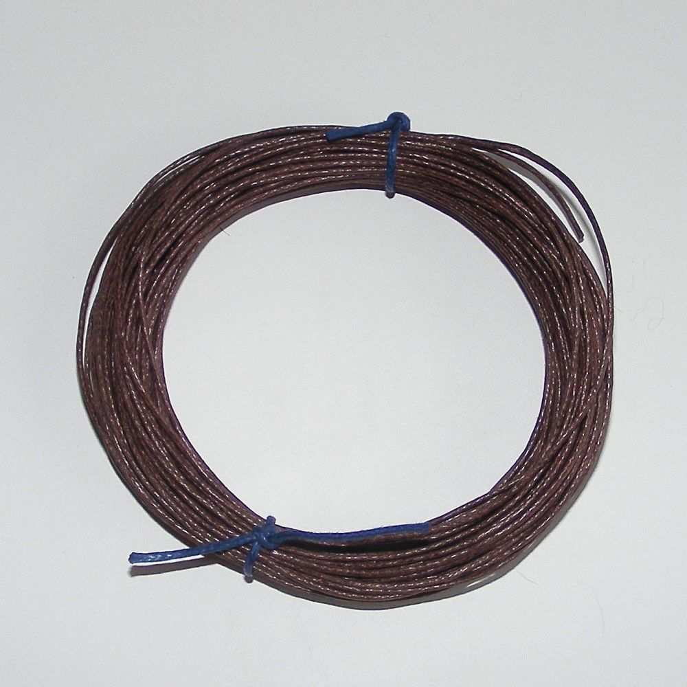 <!--006-->Brown Waxed Cotton Cord (Single Pack)