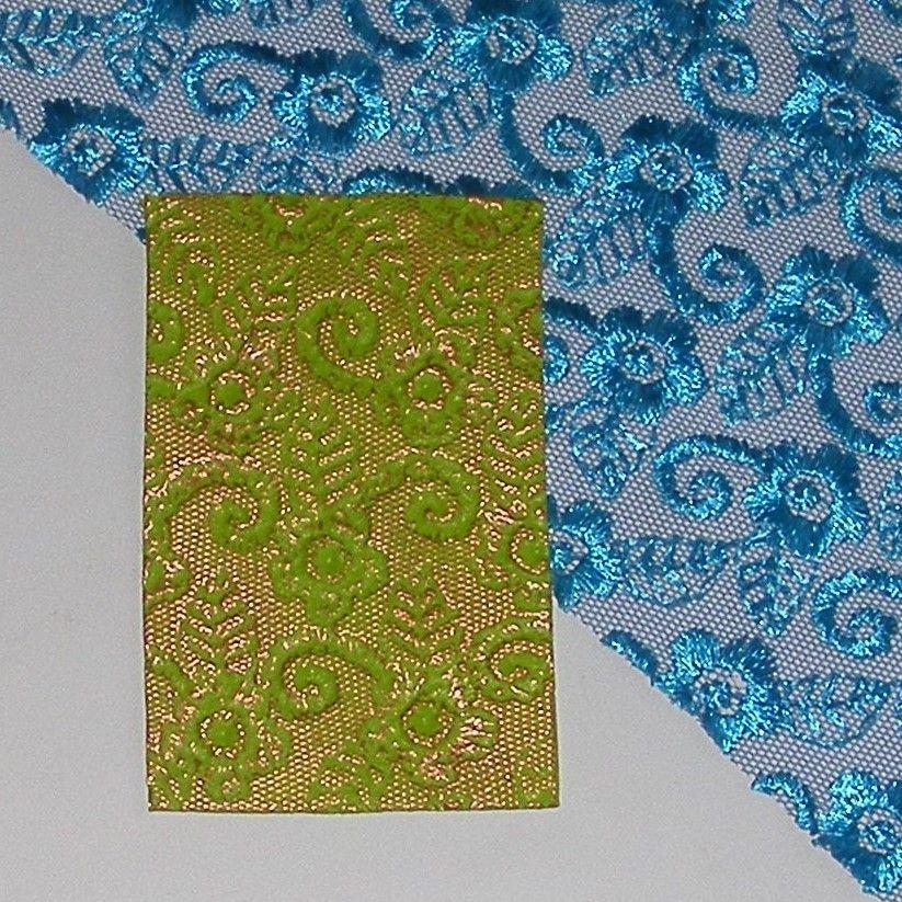 <!--003-->Bangle Length - Turquoise Flower Lace