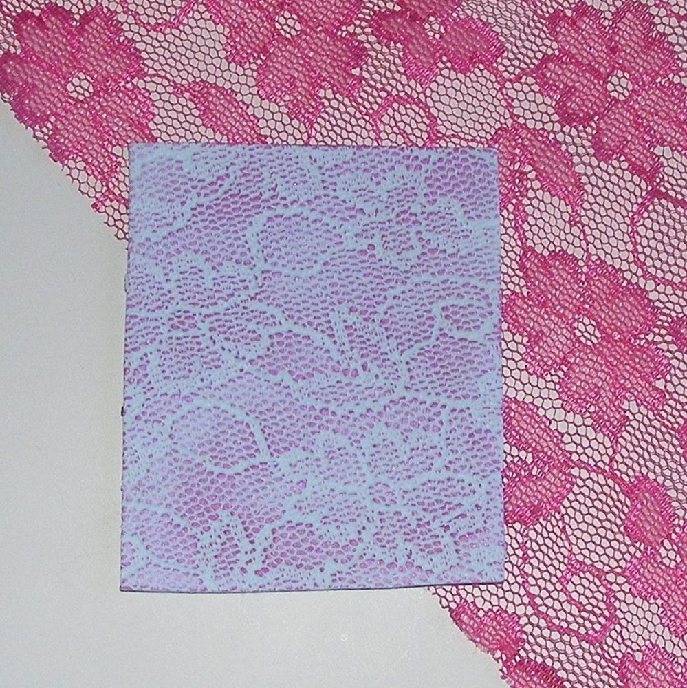 <!--011-->(BL 11)Pink Flowers - Bangle Length Lace