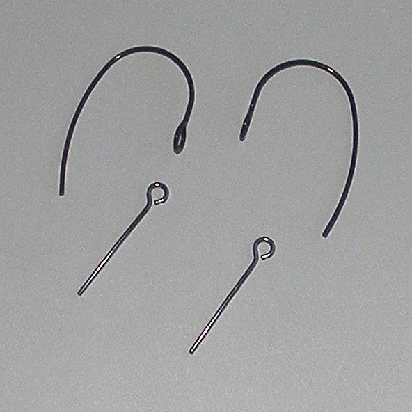 <!--031-->(EB 01) Black Ear Wires and Eye Pins